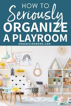 10 ways to seriously organize your playroom. How to organize toys, books, and children's craft supplies. Get your own playroom totally organized today! Living Room Toy Storage, Diy Toy Storage, Playroom Organization, Organization Hacks, Storage Ideas, Playroom Ideas, Organizing Your Home, Organizing Toys, Organizing Ideas