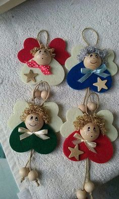 Diy christmas ornaments 646055509022549541 - 9 Awesome DIY Easy Christmas Ornaments Design Ideas Source by roomydeas Easy Christmas Ornaments, Christmas Crafts For Kids, Felt Ornaments, Christmas Angels, Simple Christmas, Christmas Projects, Holiday Crafts, Christmas Gifts, Christmas Decorations