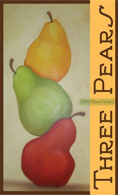 Three Pears Pinot Grigio wine label