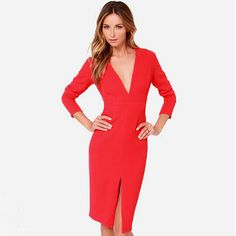 Valentine's Day Women Dress Long Sleeve Elegant Slim Dress Casual Sexy Party Dresses Vestidos Female Autumn Winter NC-398 Oh Yeah Visit our store