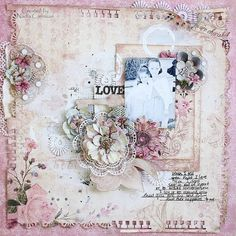 Shabby chic scrapbooking by Nadia for Scraps of Elegance
