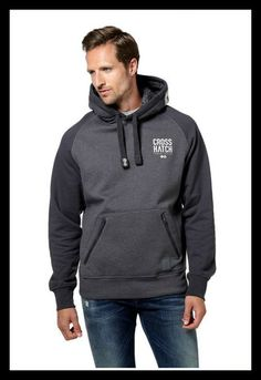 Crosshatch Ozment Hoody Over the head hoody with zipped pockets. Available in forged iron or iris navy sizes, small, medium, large, x-large Cool Things To Make, Hooded Jacket, Hoody, Jumper, Menswear, Navy, Iris, Sweaters, Cotton