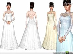 Romantic Wedding Gown by Ekinege - Sims 3 Downloads CC Caboodle