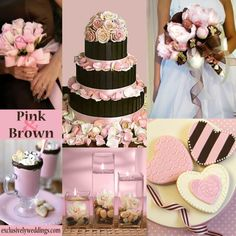 Pink And Brown Wedding Motif Themes Neutral Colors