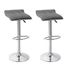 Asense Backless Linen Fabric Curved Square Shape Adjustable Bar-stools (Set of Two)(Grey) https://kitchenbarstools.life/asense-backless-linen-fabric-curved-square-shape-adjustable-bar-stools-set-of-twogrey/