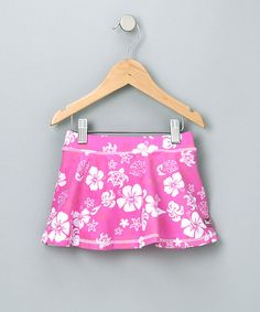 Take a look at this Pink & White Skirt - Girls by Blow-Out on #zulily today! #fall