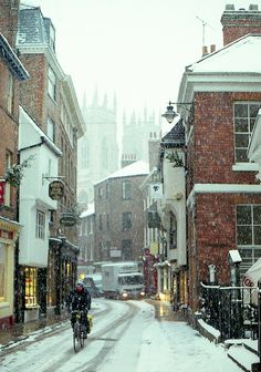 Winter in York, England