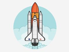 Slingstrike designed by Matt Kohn. Connect with them on Dribbble; the global community for designers and creative professionals. Kids Art Space, Space Artwork, Rocket Tattoo, Ship Drawing, Space Illustration, Affinity Designer, Space Theme, Arte Pop, Space Shuttle