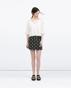 Imagem 1 de SAIA MINI JACQUARD da Zara