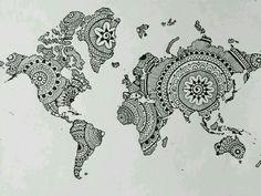 Map tattoo idea