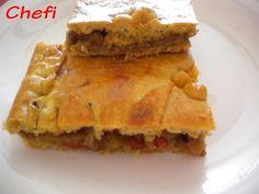 Empanada vegetariana. Ver receta: http://www.mis-recetas.org/recetas/show/31794-empanada-vegetariana