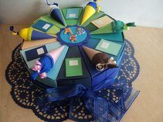 Schultüten - Torte zur Einschulung  Geldgeschenk-Gastgeschenk- - ein Designerstück von Nachtkarten bei DaWanda