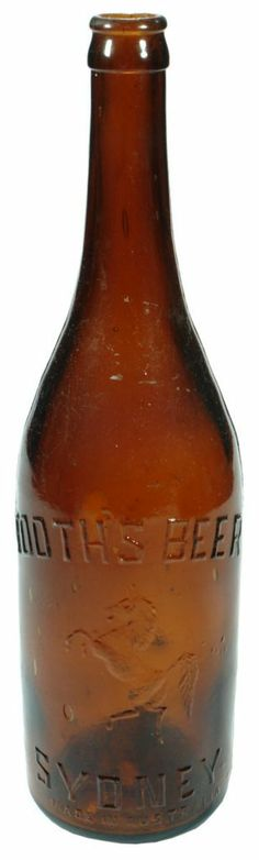 Tooth's Beer, Sydney. Rearing Horse (White Horse of Kent for the Kent Brewery) trade mark. Crown Seal Beer. 26 oz. c1910s.