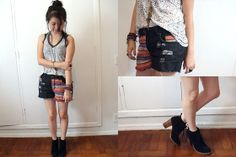 Renner Black Boots, Clock House Ethnic Jeans Shorts