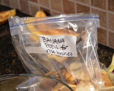 Homemade fertilizers include fresh bananas