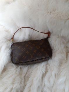 authentic Louis Vuitton pochette on Mercari Louis Vuitton Clutch, Louis Vuitton Monogram, Authentic Louis Vuitton, France, Zipper, Purses, Shape, Pattern, Leather
