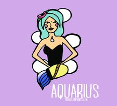 Aquarius from my illustrated Astrology Zodiac Collection! FREE DOWNLOAD for all 12 signs on my website! http://www.noblelionprints.com/blog/zodiac-illustrations-by-chelsea-smith