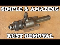 In the modern lifestyle, we're surrounded by a great variety of metal tools and materials and when the coating of these objects crack, rust appears. Deep Cleaning Tips, Cleaning Solutions, Cleaning Hacks, Remove Rust From Metal, How To Remove Rust, Removing Rust, Metal Tools, Old Tools, Woodworking Hand Planes