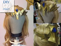 How to make Princess Zelda Armor : Crown from sheet foam Cosplay Armor, Steampunk Cosplay, Cosplay Diy, Halloween Cosplay, Halloween Costumes, Cosplay Ideas, Halloween 2014, Costume Tutorial, Cosplay Tutorial