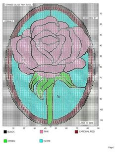 Stained Glass Pink Rose (Wall Hanging)