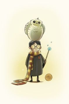 Harry Potter and owl sketch by Mike Maihack #mikemaihack