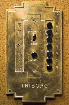 Triboro Antique Elevator Panel