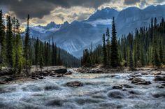 The Mistaya River on a beautiful fall day cuts through Mistaya Canyon.  Banff National Park, Alberta, Canada. (via Steve Klein)