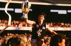 Sticks after winning the Grand Final Carlton Afl, Carlton Football Club, Kelly's Heroes, Club 16, Go Blue, Great Team, Melbourne, Champion, Blues