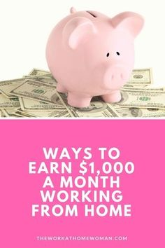 Would you like to work from home? Need to make at least $1,000 a month? Here are some fun money making ideas to get your creative juices flowing and cash in your pocket!
