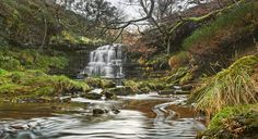 Wiggly water at a woodland waterfall in winter | Flickr - Photo Sharing!
