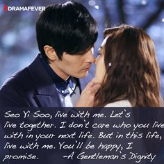 50 K-drama quotes about true love <3 A Gentleman's Dignity *blush*
