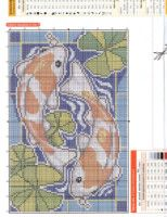 Koi fish cross stitch. Russian Oriental Pattern, Craft Corner, Counted Cross Stitch Patterns, Beaded Embroidery, Koi, Beads, Sewing, Knitting, Crafts