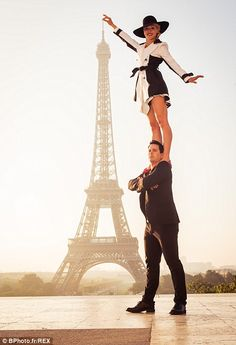 Last Tango in Paris! Engaged couple dance their way around the world taking gravity-defying photos in iconic destinations http://dailym.ai/1r21iek