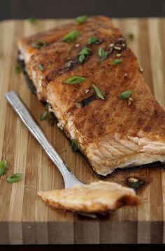 Maple Balsamic Glazed Salmon - yummy! I love Salmon!