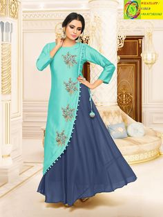 This Beautiful Attire Has Everything The Incredible Colours, Prints and Hues The Spectacular Vividity of Its Prints and Styling the Ethnic Touch a Class Fabric to Match Buy This Trendy Kurtis Online on Rana Fashionas. Stylish Dresses, Casual Dresses, Girls Dresses, Dresses Dresses, Dresses Online, Dress Neck Designs, Designs For Dresses, Kurti Designs Party Wear, Kurta Designs