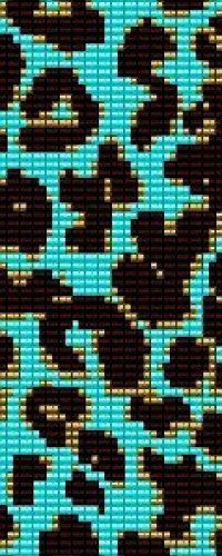 Leopard Print Turquoise - beading cuff bracelet pattern for peyote OR loom (Buy Any 2 Patterns - 3rd. FREE) - pdf