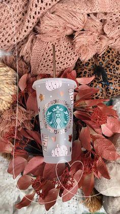 Starbucks Fall Cups, Starbucks Cup Design, Custom Starbucks Cup, Iced Coffee, Coffee Cups, Halloween Cups, Pink Pumpkins, Homecoming Mums, Autumn Photography