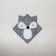 Wool Felt Gray Fox Bookmark, Corner Bookmark, Fox, Felt Bookmark, Birthday Gift, Teacher Gift, School Bookmark, Handsew Bookmark by NitaFeltThings on Etsy