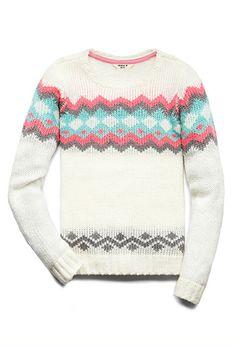 Fireside Geo Sweater (Kids) | FOREVER21 girls - 2000090798