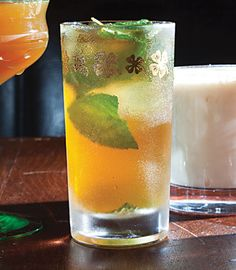 One of the first mixed drinks, the mint-laden julep was popularized on 18th-century Southern plantations.