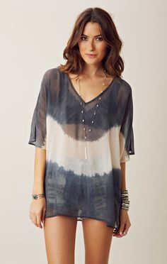 Gypsy 05 Tie Front Tunic Cover Up