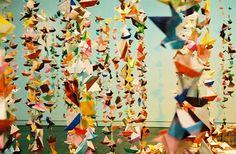 beautiful origami installation