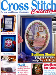 Cross Stitch Collection 39. Includes Victorian Lady in red