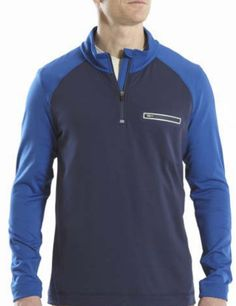 Long Sleeve Quarter Zip Sweater Lightweight and breathable, this quarter zip pullover has moisture wicking properties that make it an easy choice to take along on any journey.