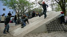 Playground and green space in Berlin-Friedrichshain #germany #berlin #playground #Rehwaldt LA