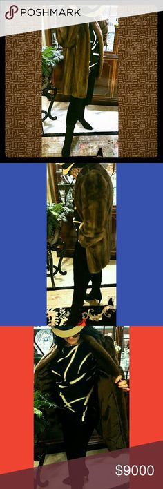 REVILLON MINK COAT STROLLER LENGTH Exquisite. ..Hardly worn...stored in climate control vault. Appraisal is being updated...last  appraisal was 2000 @ 10,000.00 $.....Excepting Best Offers. More details and pictures to serious inquires only. Thank you...size 8. Stroller length. 32 female pelts. Color is NOT DYED...COLOR LISTED AS NATURAL UMBER GLO. REVILLON  OF PARIS, LONDON, AND NEW YORK.  Other