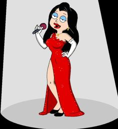 "This pic is based on the ""American Dad"" episode entitled ""Love, AD Style"" where Hayley perform as a lounge singer. She just looks so stunning if not gor. Hayley the Lounge Singer The Simpsons Guy, Good Morning Usa, America Dad, Cleveland Show, Lois Griffin, Pose, Famous Cartoons, Adult Cartoons, Grunge Girl"
