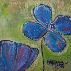 ORIGINAL CONTEMPORARY ART Poppies Floral Acrylic Painting by Laurie Maves #ContemporaryArt