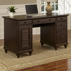 Home Styles Bermuda Computer Desk with Keyboard Tray & Reviews | Wayfair