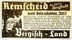 Original-Werbung/Anzeige 1938 - REMSCHEID - ca. 80 x 45 mm
